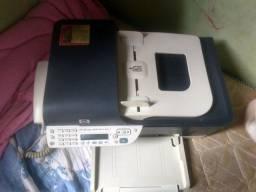 Aparelho de fax, impressora e telefone