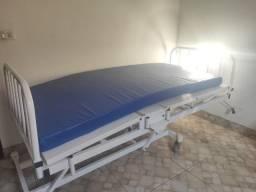Cama Hospitalar (3 manivelas) + Colchão hospitalar