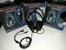 Título do anúncio: Headset Gamer LED 7.1 Sound Deep Bass USB Led Cabo 2.2M Knup KP-464