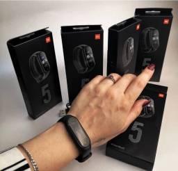 Mi band 5 original global +película+ pulseira reserva silicone