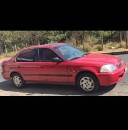 Honda Civic EX 1996 com teto solar, completo