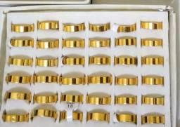 Kit 36 Peças folheadas a ouro