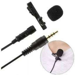Microfone de Lapela para gravação de video e Celulares<br>