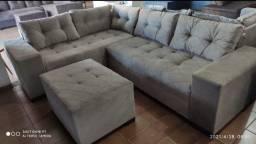 Sofá super luxo 1.399 a vista e ganhe Puff de brinde sofá e Puff sofá e Puff