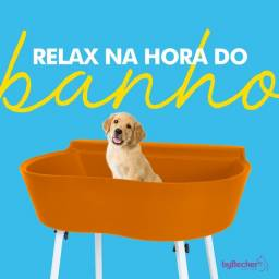 Banheira Bybecker com suporte pet shop banho e tosa