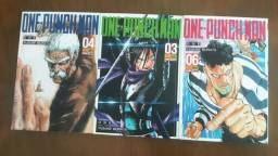 One Punch Man Volumes 3, 4 e 6