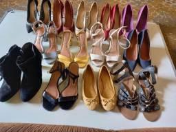 Lote de calçados usados em bom estado,  muito bom para Bazar