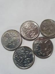 Lote 100 moedas de 50 centavos 1989 R$ 140,00