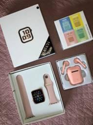 Kit de smartwatch e fone sem fio
