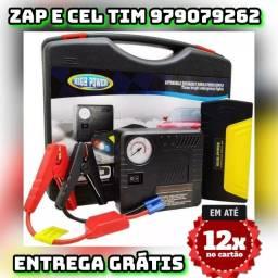 Bateria com Compressor de Ar Veicular Chupeta Usb Maleta Bivolt - Jump Starter