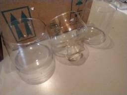 Potes de vidro para eventos e decoração, 35 unidades
