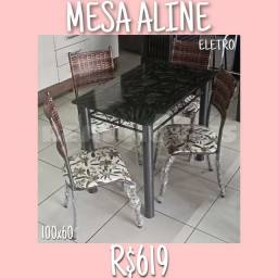 Título do anúncio: MESA MESA MESA ALINE (4 CADEIRAS) / ( 4 CADEIRAS)