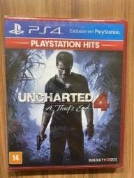 Jogo Uncharted 4 A Thief's End Hits - PS4 Lacrado