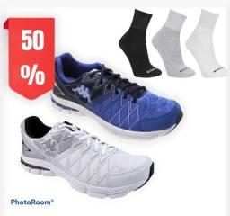 Promoção 2x tênis grátis 3 pares de meia