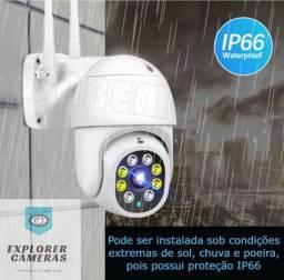 Câmera Speed Dome wifi HD controlada pelo celular