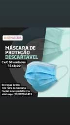 MÁSCARA DESCARTÁVEL TRIPLA Cx/C 50 UN