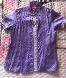 Camisa infantil feminina Dudalina