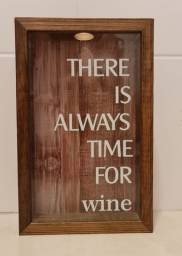 Quadro porta-rolhas de vinho 17 X 27cm