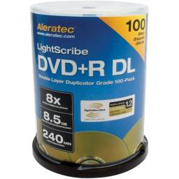 Mídias virgens para gravação, DVD/CD, pacote com 50 unidades