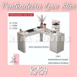 Título do anúncio: PENTEADEIRA LOVE STAR (BRANCO FOSCO)