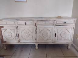 Balcão madeira maciça - Antiquário