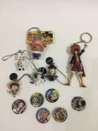 One Piece Chaveiros e Bottons (todos)