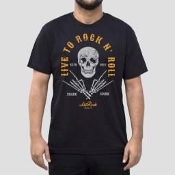 Camiseta Live To Rock - Masculina - Tamanho G