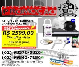 Kit cftv FullHD com 4 câmeras Intelbras
