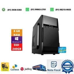 Título do anúncio: Computador i3 lga 1155 + memoria 8gb ddr3 + fonte 200w + ssd 240gb