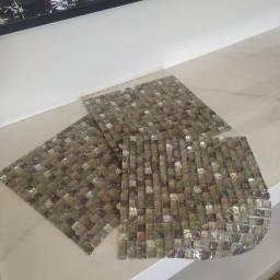 Pastilhas de vidro e cristais 30x31