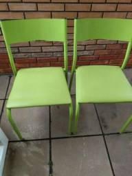 Cadeira de Metal Verde