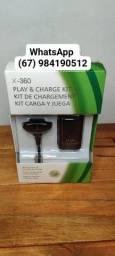 Kit carregador e bateria para Xbox 360