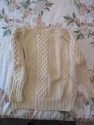 Blusão tricô à mão