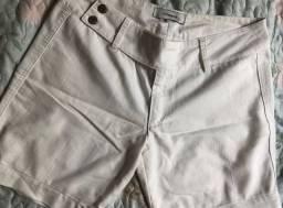 Bermuda jeans branco
