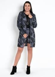 Conjunto Feminino inverno casaco sobretudo