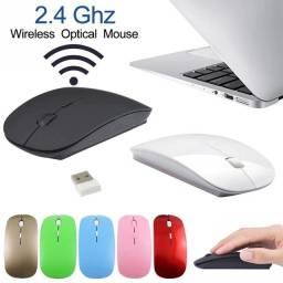 Mouse Sem Fio USB Super Fino 2.4Ghz