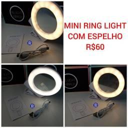 Mini Ring Light com Espelho