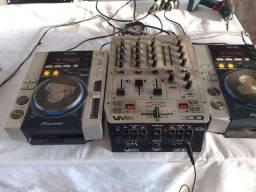 Cdj200 e Mixer Bering