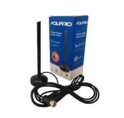 Antena Digital Interna hdtv Aquário dtv-100P - Base Magnética - Conector 90°