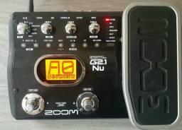 Pedaleira zoom G2.1NU para guitarra aceito cartão