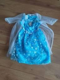 Vestido da Elza Frozen com luzes e música Let it go!!!