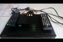 Dvd Player Sony + Conversor e Gravador Digital