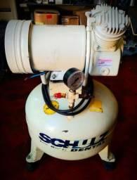 Compressor dental schulz 6 pés com 30 litros , odonto , poço artesiano