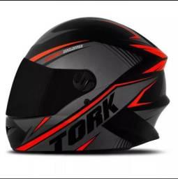 (Promoção)Capacete Moto ProTork R8 Viseira Cristal+Viseiral Fumê+Balaclava Grátis