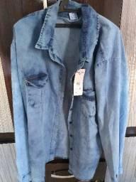 Camisa jeans feminino