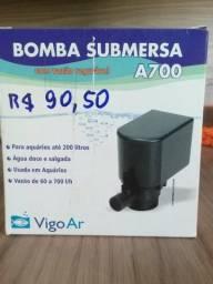 Bomba submersa A700 com vazão regulável