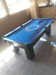 Mesa Caçapa de Redes Cor Preta Tecido Azul Logo Cruzeiro Mod. GQUE9172