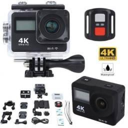Câmera Digital a Prova D'agua Action Sports 4k Ultra HD DV 16Mpx Wi-Fi Slot SD