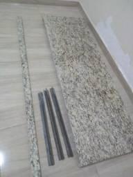 Pedra de mármore bege, 1,50m x 0,50cm