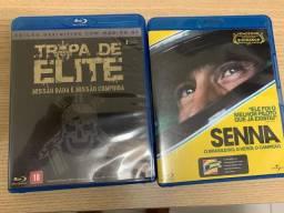 2 Filmes Clássicos Bluray - Tropa de Elite e Historia do Senna